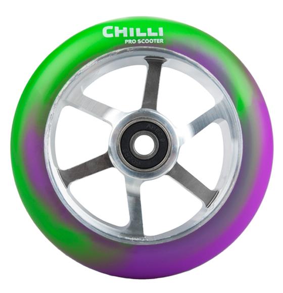 stunt scooter rollen chilli 6 spoke wheel gr n lila. Black Bedroom Furniture Sets. Home Design Ideas