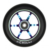 Chilli Wheel 6-spoked 120 mm - schwarz/rainbow