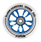 Slamm Wheel Flair 100 mm - weiss/blau