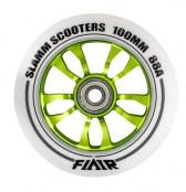 Slamm Wheel Flair 100 mm - weiss/grün