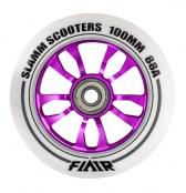 Slamm Wheel Flair 100 mm - weiss/lila