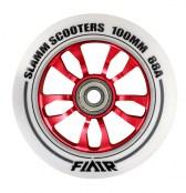 Slamm Wheel Flair 100 mm - weiss/rot