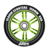 Slamm Wheel Orbit 100 mm - schwarz/grün